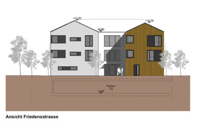 Neue Häuser in der Friedensstraße